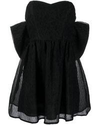 P.A.R.O.S.H. Black Minikleid im Oversized-Design