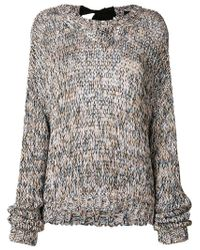 Rochas Multicolor Cable Knit Jumper