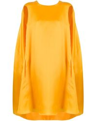 Nina Ricci Yellow Oversized Cape Dress