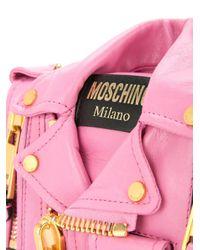 Moschino Pink Biker Mini Bag