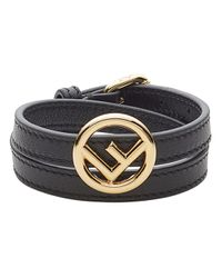 Fendi Black F Is Bracelet