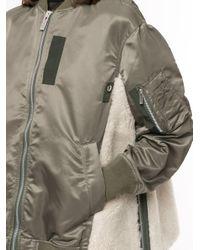 Sacai オーバーサイズ ボンバージャケット Green