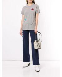 T-shirt à détails brodés de sequins Markus Lupfer en coloris Gray