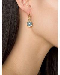 Irene Neuwirth Blue 18kt Gold Aquamarine Drop Earrings