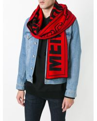 Stella McCartney - Red Members Only Scarf for Men - Lyst