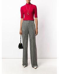 Etro Black Striped Straight Trousers