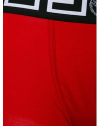 Versace Red Grecian Logo Trunks for men
