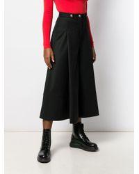 Юбка Миди Со Складками Alexander McQueen, цвет: Black
