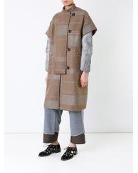 Kolor - Blue Single Breasted Coat - Lyst
