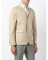 Thom Browne Natural Patch Detail Blazer for men