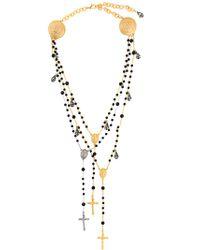 Dolce & Gabbana - Black Cross Necklace - Lyst