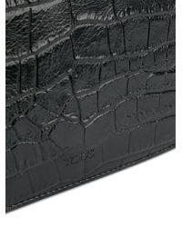 Tod's クロコダイルパターン ショルダーバッグ Black