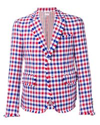 メンズ Thom Browne フライ ギンガム ハイアームホール スポーツコート Multicolor