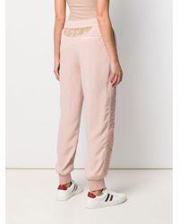 Pantalones con efecto acolchado Moncler de color Pink