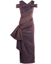 Vestido tornasolado Talbot Runhof de color Purple