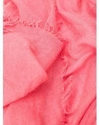 Aspesi ファインニット スカーフ Pink