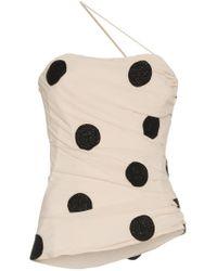 Jacquemus Black Polka Dot Embroidered Top