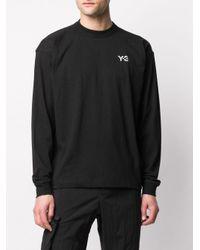 Camiseta con logo estampado Y-3 de hombre de color Black