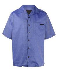 Prada Blue Logo Tag Shirt for men