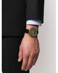 Larsson & Jennings Metallic Embossed Logo Buckle Watch
