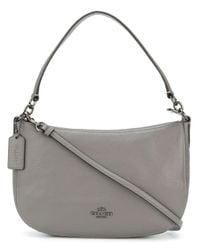 COACH Gray Chelsea Crossbody Bag