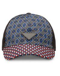 Casquette imprimée Prada pour homme en coloris Blue