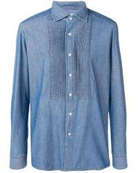 Tagliatore Blue Denim Shirt for men