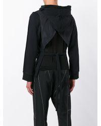 KTZ Black Inside Out Backless Hoodie for men