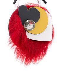 Marni - Red Collana Con Cristallo E Shearling - Lyst