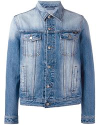 AMI - Blue Denim Jacket for Men - Lyst