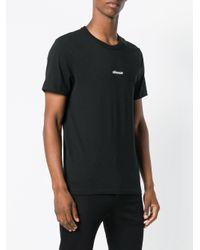 Camiseta con bordado silence AMI de hombre de color Black