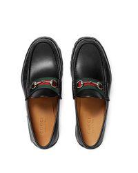 Лоферы 'horsebit' С Отделкой Web Gucci для него, цвет: Black