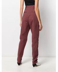 Pantalon fuselé à taille haute Isabel Marant en coloris Red