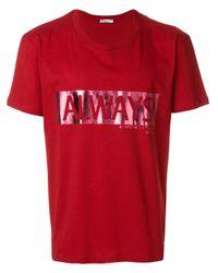 """Valentino T-Shirt mit """"Always""""-Print in Red für Herren"""