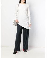 Ruched jersey top MM6 by Maison Martin Margiela en coloris White