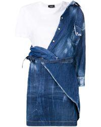 Vestito modello T-shirt di DSquared² in Blue