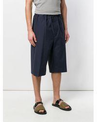 Jil Sander Blue Elasticated Knee-length Shorts for men
