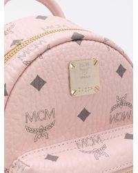 MCM Pink 'Stark' Mini Rucksack