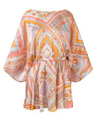 Emilio Pucci Yellow Printed Cover-up