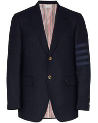 Blazer à détail rayé Thom Browne pour homme en coloris Blue