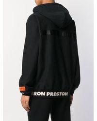 Felpa con cappuccio e logo di Heron Preston in Black da Uomo