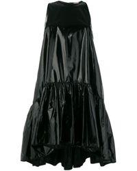 N°21 Black Shiny Tiered Mini Dress