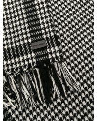 Bufanda con motivo de pied de poule Saint Laurent de color Black