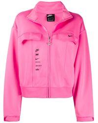 Giacca con zip di Nike in Pink