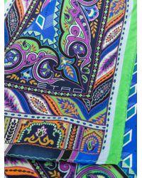 All-over print scarf Etro pour homme en coloris Blue