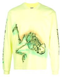 メンズ Yeezy Wes Land Skeleton トップ Yellow