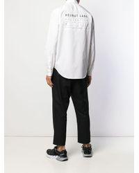 メンズ Helmut Lang ロゴ シャツ White