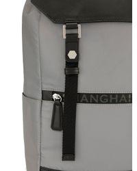 メンズ Shanghai Tang Jubilee レザーバックパック Gray