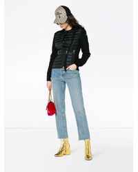 Moncler Black Feather Down Knitted Jacket