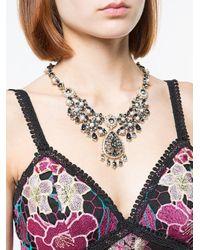 Short chandelier necklace Marchesa en coloris Multicolor